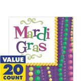 Mardi Gras Celebration Lunch Napkins, 20-pk
