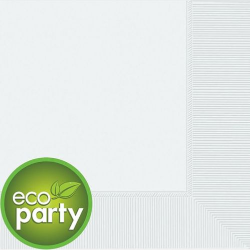 White 2-Ply Eco Dinner Napkins