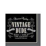 Vintage Dude Beverage Napkin, 16-pk