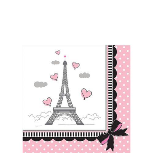 Pink Paris Beverage Napkins, 16-pk