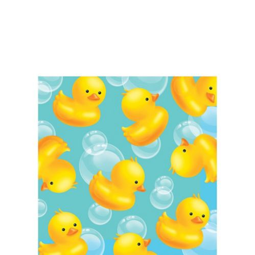 Rubber Ducky Baby Shower Beverage Napkins, 16-pk