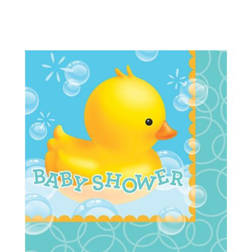 Rubber Ducky Baby Shower Letters Lunch Napkins, 16-pk