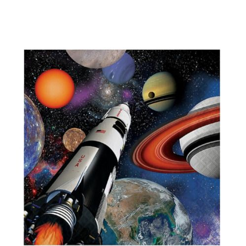 Space Blast Lunch Napkins, 16-pk