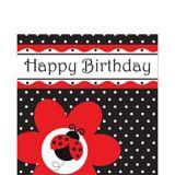 Serviettes de table d'anniversaire, jolies coccinelles, paq. 16