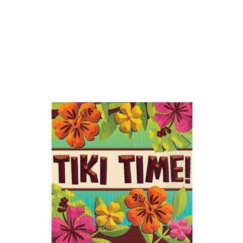 Serviettes de table pour boisson Tiki Time, paq. 125