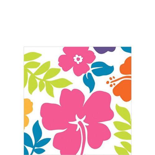 White Hibiscus Beverage Napkins, 100-pk Product image