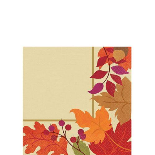 Serviettes de table pour boisson à motif d'automne festif, paq. 36 Image de l'article