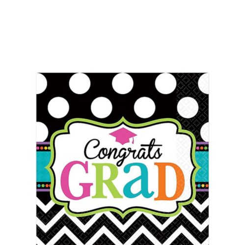 Dream Big Graduation Beverage Napkins, 125-pk