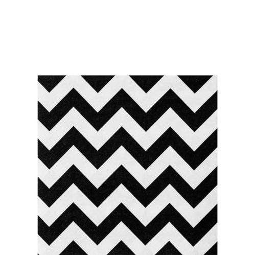 Black & White Chevron Beverage Napkins, 36-pk