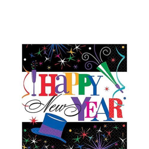 Serviettes de table de célébration du réveillon du jour de l'An, paq. 125 Image de l'article