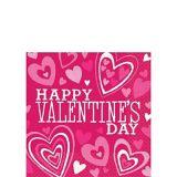 Serviettes de table pour boissons pour la Saint-Valentin, couleurs vives, paq. 36