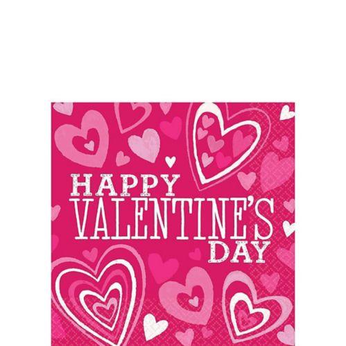 Serviettes de table pour boissons pour la Saint-Valentin, couleurs vives, paq. 36 Image de l'article