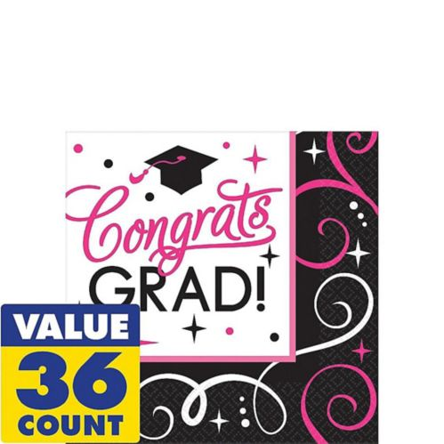 Sparkling Congrats Grad Beverage Napkins, 36-pk