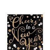 Bubbly Celebration Cheers to a New Year Beverage Napkins, 36-pk