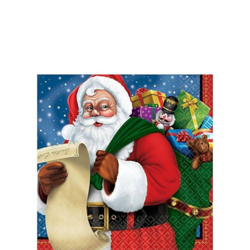 Classic Santa Beverage Napkins, 125-pk