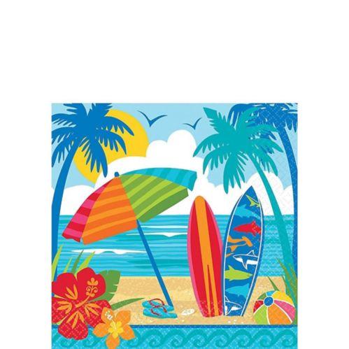 Sun & Surf Beach Beverage Napkins, 36-pk