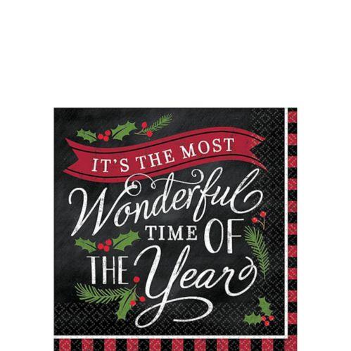 Most Wonderful Time Beverage Napkins, 36-pk Product image