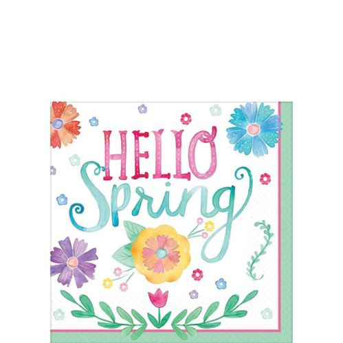 Watercolour Spring Beverage Napkins, 36-pk Product image