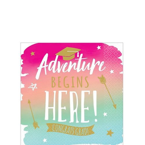 Reach For The Stars Grad Beverage Napkins, 36-pk Product image