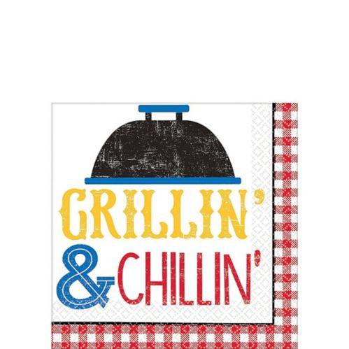 Serviettes pour boissons Pique-nique Barbecue, paq. 36