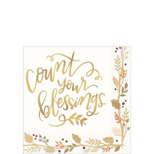 Count Your Blessings Beverage Napkins, 36-pk