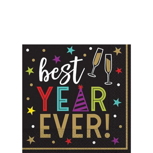 Best Year Ever Hexagon Beverage Napkins, 125-pk
