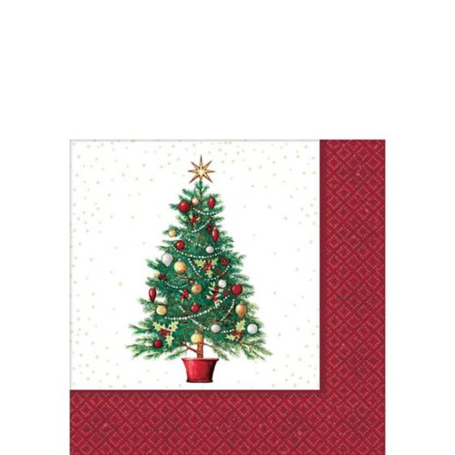 Big Party Pack Oh Christmas Tree Beverage Napkins, 125-pk