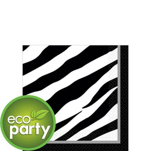 Zebra Print Beverage Napkins, 36-pk