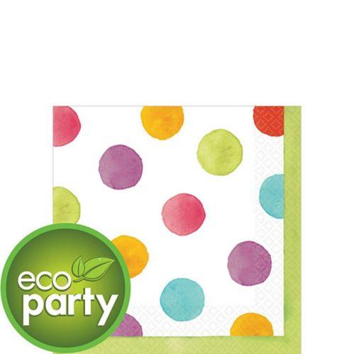 Watercolour Dots Beverage Napkins, 36-pk