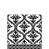 Black and White Damask Beverage Napkins, 36-pk