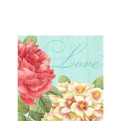 Serviettes de table pour boissons, fleurs bienheureuses, paq. 36