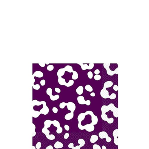 Plum Cheetah Print Beverage Napkins