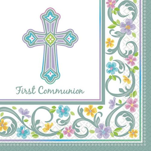Blessed Day Communion Beverage Napkins, 36-pk