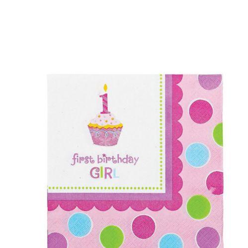 Serviettes pour boissons Petit gâteau, rose, paq. 36 Image de l'article