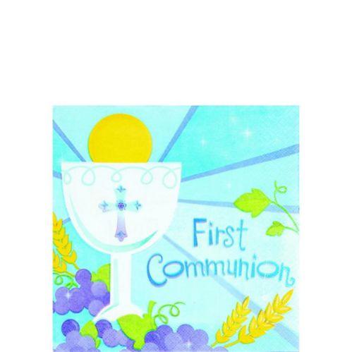 Serviettes pour boissons première communion, enfants, paq. 36