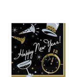 Black Tie New Year's Beverage Napkins, 100-pk