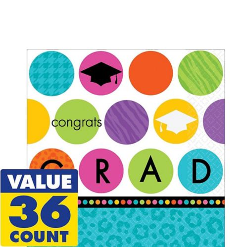 Colourful Commencement Lunch Napkins, 36-pk