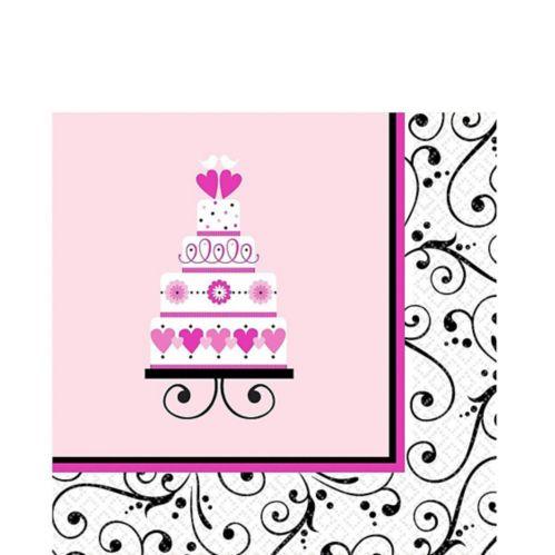 Pink Sweet Wedding Lunch Napkins, 36-pk