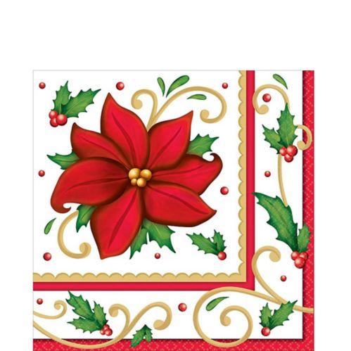 Serviettes de table Fleurs hivernales, paq. 125
