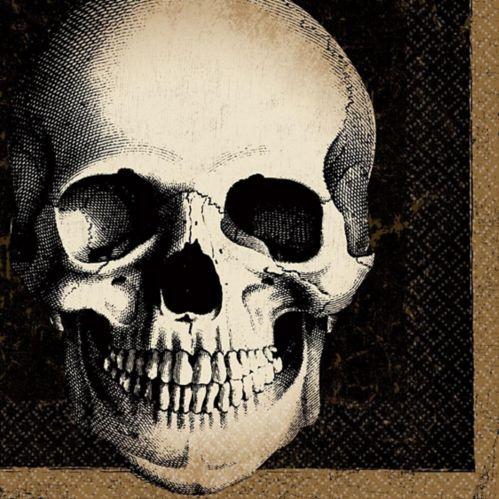 Serviettes de table, cimetière et crâne, paq. 125
