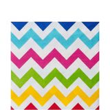 Bright Rainbow Chevron Lunch Napkins, 36-pk