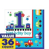 All Aboard 1st Birthday Lunch Napkins, 36-pk