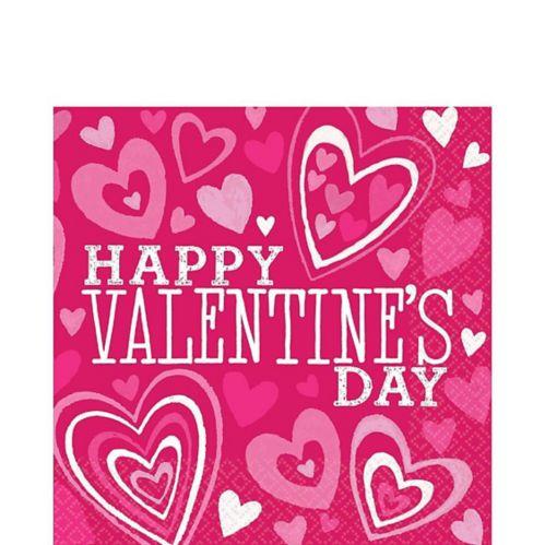 Serviettes de table pour la Saint-Valentin, couleurs vives, paq. 36