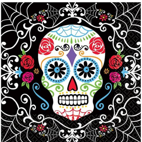 Day of the Dead Sugar Skull Lunch Napkins, 36-pk