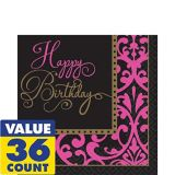 Fabulous Celebration Damask Birthday Lunch Napkins, 36-pk