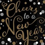 Bubbly Celebration Cheers to a New Year Lunch Napkins, 36-pk