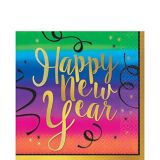 Colourful New Year's Lunch Napkins, 36-pk