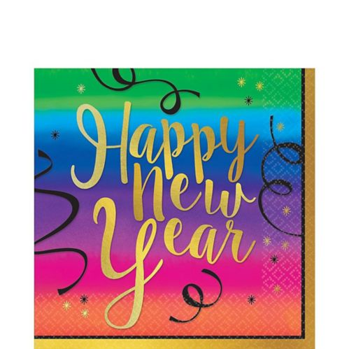 Colourful New Year's Lunch Napkins, 36-pk Product image