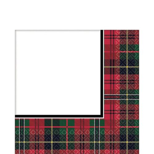 Holiday Plaid Lunch Napkins, 125-pk