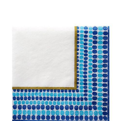 Serviettes de table à pois, indigo, paq. 36